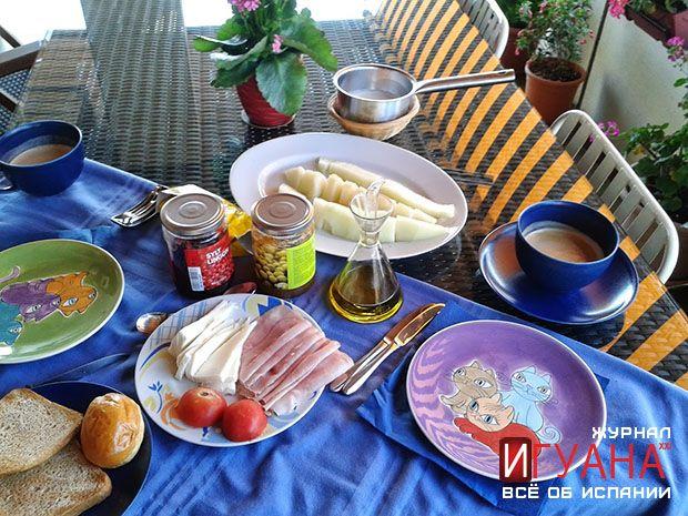Типичный испанский завтрак